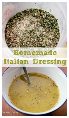 Homemade Italian Dressing. You can actually make it yourself! Keep it in the pantry and use it whenever Italian dressing OR Italian dressing mix (like in a lot of crockpot recipes) is called for.
