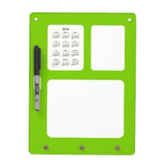 2014 Calendar Yellow Green Dry Erase Broad Design from Calendars by Janz