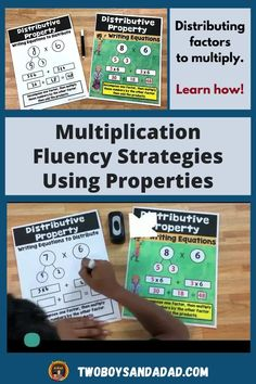 Multiplication fluency does not have to be elusive! Sure, students need to practice, memorize and understand the multiplication facts. But that doesn't always achieve fluency with the facts. You also need to teach students multiplication strategies such as using the distributive property. The multiplication strategies help students when they just can't recall or remember the facts. Discover and learn more about how to teach these strategies! #twoboysandadad Primary Teaching, Teaching Math, Teaching Ideas, Math Tips, Math Strategies, Standards For Mathematical Practice, Teaching Addition, Multiplication Activities, Distributive Property