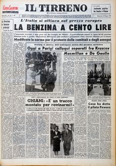 15 maggio 1960 Newspaper Front Pages, Newspaper Cover, Old Newspaper, Vintage Posters, Vintage Photos, Pin Up Retro, Marketing Poster, Italian Posters, Old Signs