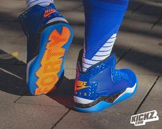 The unofficial sequel to the Jordan Spizike and another homage to director Spike Lee/Mars Blackmon: The JORDAN SPIKE FORTY is now available in a New York Knicks colorway of blue, orange and white