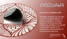 LA BRUJULA DE CRISTAL. Obsidiana. Conoce los cristales con #labrujuladecristal.