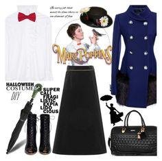 """Mary Poppins"" by gabrilungu ❤ liked on Polyvore featuring Derek Lam, Yves Saint Laurent, Disney, Gianvito Rossi, River Island, halloweencostume and DIYHalloween"