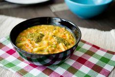 Zupa jarzynowa-brokułowa z kaszą pęczak