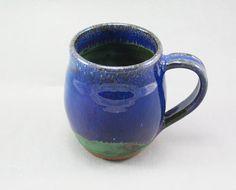 Pottery Coffee Mug Stellar Purple Green to Black SPGTB70
