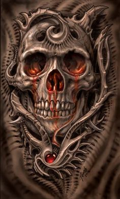 ✯ Biomech Bloodskull :: Artist Mike Pucciarelli ✯