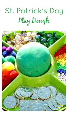 St. Patrick's Day Play Dough for Kids
