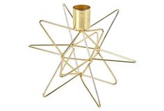"6"" Star Candlestick, Gold 