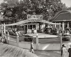 """1928."""" Riding the Whip at Glen Echo amusement park in Maryland. - They have the same ride at Lakeside in Denver still!"""