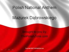 polish national anthem - YouTube (not my favorite nation, just my favorite anthem- probably the most singable, dancable one in the world)