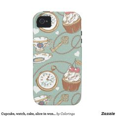 Cupcake, watch, cake, alice in wonderland #iphonecase #iphonecases