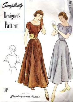 1940s Misses Dinner Dress