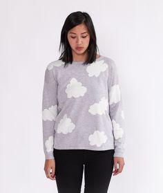 SUGARHILL Fluffy Cloud Pullover grey/white