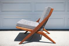 Dux Scissor Chair by Folke Ohlsson by MidcenturyMaddist on Etsy