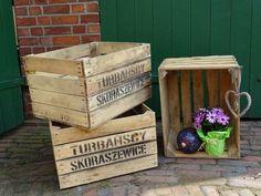 Alte Obstkisten aus Holz, Pflanzkisten, Garten, vintage Deko / old wooden fruit box for gardening by Obstkisten - Online via DaWanda.com