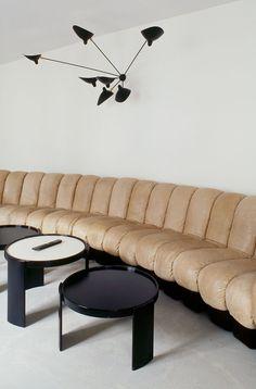 Just wraparound couch brainstorming  Azzedine Alaïa hotel concept in Marais district, Paris