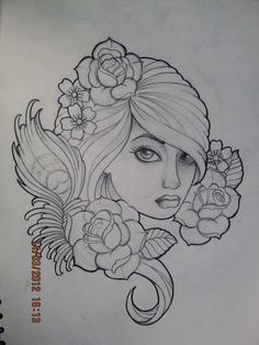 Love the flower on right for the side of my neck tat...
