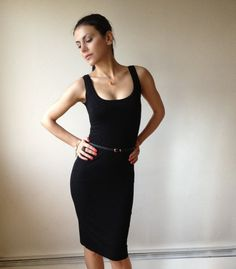 Black TShirt Party Dress  MD006 by marcellamoda on Etsy, $65.00    With a brightly colored belt...I would die, I love it!