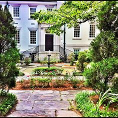 "A perfect Savannah garden. Savannah, GA was named #2 on Travel + Leisure's 2012 list of ""America's Greenest City"""