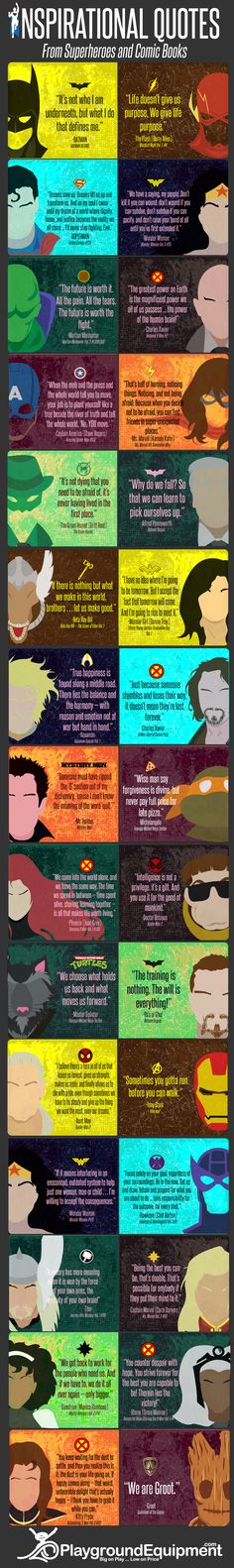 Inspirational Quotes from Superheroes and Comic Books Infographic - http://elearninginfographics.com/inspirational-quotes-superheroes-comic-books-infographic/