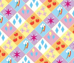 My Little Pony - Cutie Mark fabric