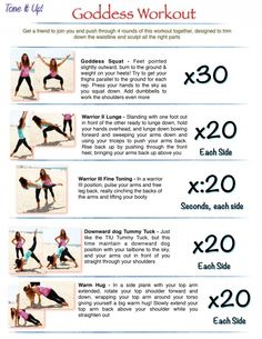 It's your full body toning routine ~ Your Goddess Workout from your trainers K www.toneitup.com