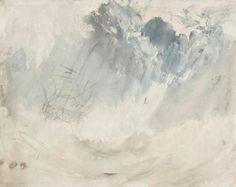 Joseph Mallord William Turner Ship in a Storm - The Largest Art reproductions Center In Our website. Low Wholesale Prices Great Pricing Quality Hand paintings for saleJoseph Mallord William Turner Watercolor Landscape Paintings, Landscape Art, Watercolor Art, Joseph Mallord William Turner, Turner Painting, Painting & Drawing, Turner Watercolors, Art Plastique, Art History