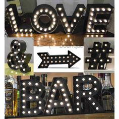 LIGHT-UP-MARQUEE-LETTERS-SYMBOLS-LED-Lights-Black-Fairground-Style-Lamps-Sign