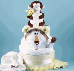 Deluxe Baby Lion King Diaper Cake