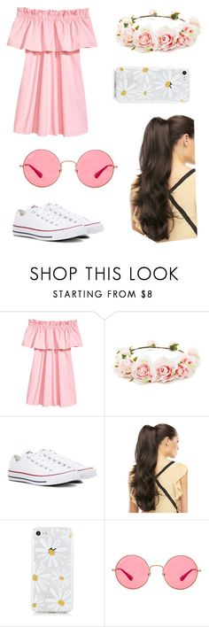 """""""Sans titre #55"""" by khlooe ❤ liked on Polyvore featuring Forever 21, Converse and Ray-Ban"""