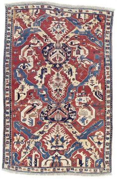 Caucasian Karabagh dragon rug, late 18th c