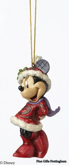 Disney Traditions Minnie Mouse Hanging Ornament Jim Shore Christmas Accessories A28240 #DisneyTraditionsMinnieMouseHangingOrnament #JimShoreA28240 #FineGiftsNottingham