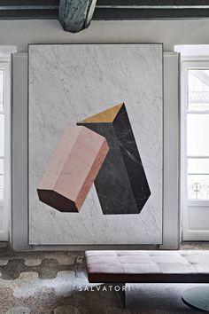 More Fabrics loves this Geometrical Pattern. White Interior. @ decdesignecasa, Italy.