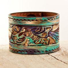 Upcycled Bracelet Repurposed Jewelry by rainwheel, $105.00
