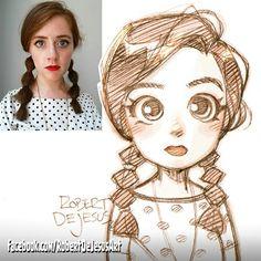 Animalcule sketch. #braids #bubblebraids #chibi #reference #redhair #kawaii #sugoi #doodle #sketch #animeportrait