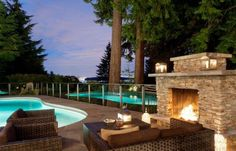 Outdoor Inspiration: Stunning Design Ideas For Fireplaces By The Pool