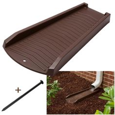 Protect your foundation and landscaping from water damage with this two pack of splash blocks. These decorative gutter extenders were designed to be an attractive addition to your landscape. Besides the aesthetically appealing design, these splash blocks are made from a premium resin that makes them durable yet lightweight. Each splash block measures 24 inches long to safely divert water from your downspout to prevent erosion and damage from rainwater runoff. Gutter Drainage, Yard Drainage, Decorative Downspouts, Landscape Drainage, Drainage Solutions, Water Management, Water Damage, Landscaping, Resin