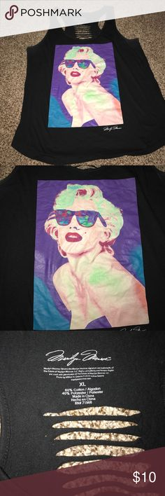 Marilyn Monroe cut out racer tank Tank top Forever 21 Tops Tank Tops
