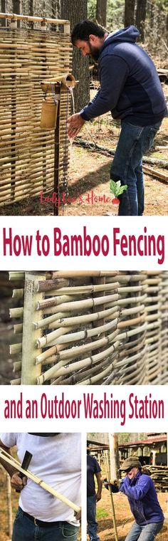 How to bamboo fencing and an outdoor handwashing station. Let's explor the amazing plant that is bamboo! Let me show you how you can use it for indoor and outdoor projects.   #LadyLee'sHome #bamboo #howtobamboofencing #bambooprojects #diybamboo #homesteading #diyprojects
