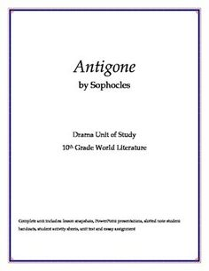 Antigone Study Guide Worksheet Answer Key | Curriki