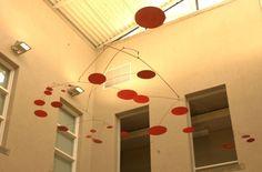 Mid-century modern hanging mobile art in the style of Alexander Calder. Mobile Sculpture, Modern Sculpture, Mobile Art, Hanging Mobile, Modern Spaces, Mid-century Modern, Kinetic Art, Flying Saucer, Mobiles