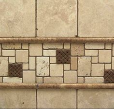 Tumbled Marble Backsplash | Backsplash Tile Designs: Combining 2 or More Tiles for a Unified ...