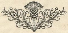 Light-stitching and perfect for subtle embellishment on shirts and jackets. It may look pretty, but there's a reason the Scots chose the thistle as their emblem - it's prickly and tough and you really do not want to mess with it.