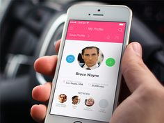 iOS - Profile Screen on Behance