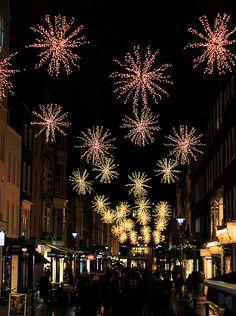 Bond Street Christmas Lights in London