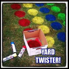 Giant-Sized Classic Games to Play Outside Grass Twister for graduation party? something for all the little cousins to doGrass Twister for graduation party? something for all the little cousins to do Summer Activities, Outdoor Activities, Camping Activities, Youth Activities, Camping Ideas, Kid Party Activities, Fun Crafts, Crafts For Kids, Party Crafts