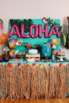 Tropical Party Decoration Supplies 96 Pcs Tropical Palm Leaves Hibiscus Flowers Monstera Leaf Table Decor Simulation Leaf Home Kitchen Photo Prop Hawaiian Aloha Jungle Luau Havana Night Party Supplies Luau Theme Party, Hawaiian Party Decorations, Birthday Table Decorations, Aloha Party, Hawaiian Luau Party, Moana Birthday Party, Hawaiian Birthday, 13th Birthday Parties, Tiki Party