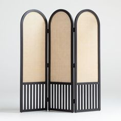Shop Anaise Cane Room Divider Screen. Channeling 1930s curves and mid-century caning, our Anaise room divider screen flirts with tradition in an eye-catching design that's totally now. Mindi veneer rounds the frame, offering clean curves up top and a linear rhythm below. Cane Furniture, Unique Furniture, Custom Furniture, Bedroom Furniture, Condo Bedroom, Furniture Design, Master Bedroom, Room Divider Screen, Room Dividers