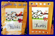 Thank You Card, Handmade, Quilled
