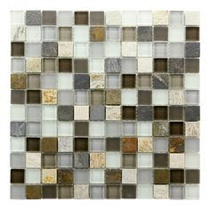 """I pinned this Sierra Mosaic Tile from the Tuscan Kitchen event at Joss and Main! Almost what I want for my back splash. All the right colors, save for the gold and amber hues. Otherwise, Sierra Mosaic Tile would be a perfect fit for my granite countertops. The price? Think we """"piner's"""" could do better - wouldn't you agree?"""
